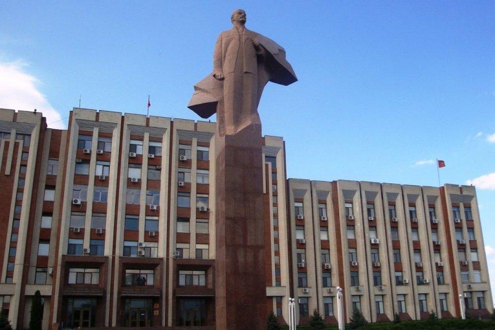 Tiraspol, hlavné mesto nikým neuznanej repubiliky.  Foto - AP