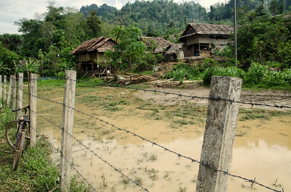 Utečenecký tábor Mae La, severozápadná hranica. Foto - Tomáš Forró