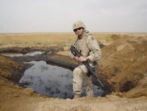 Jan Kulíšek v Iraku 2005