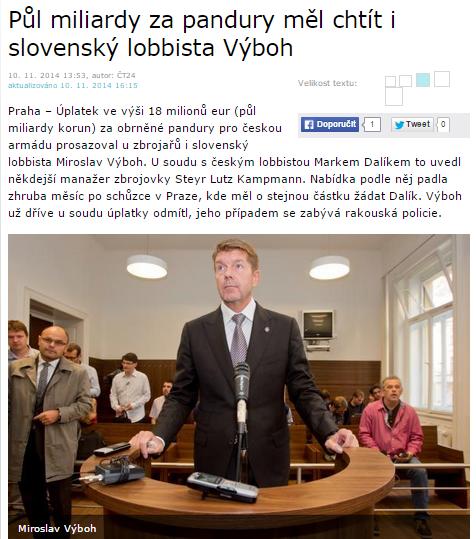 Kauza okolo transportérov Pandur dostihla aj kamaráta slovenského premiéra.