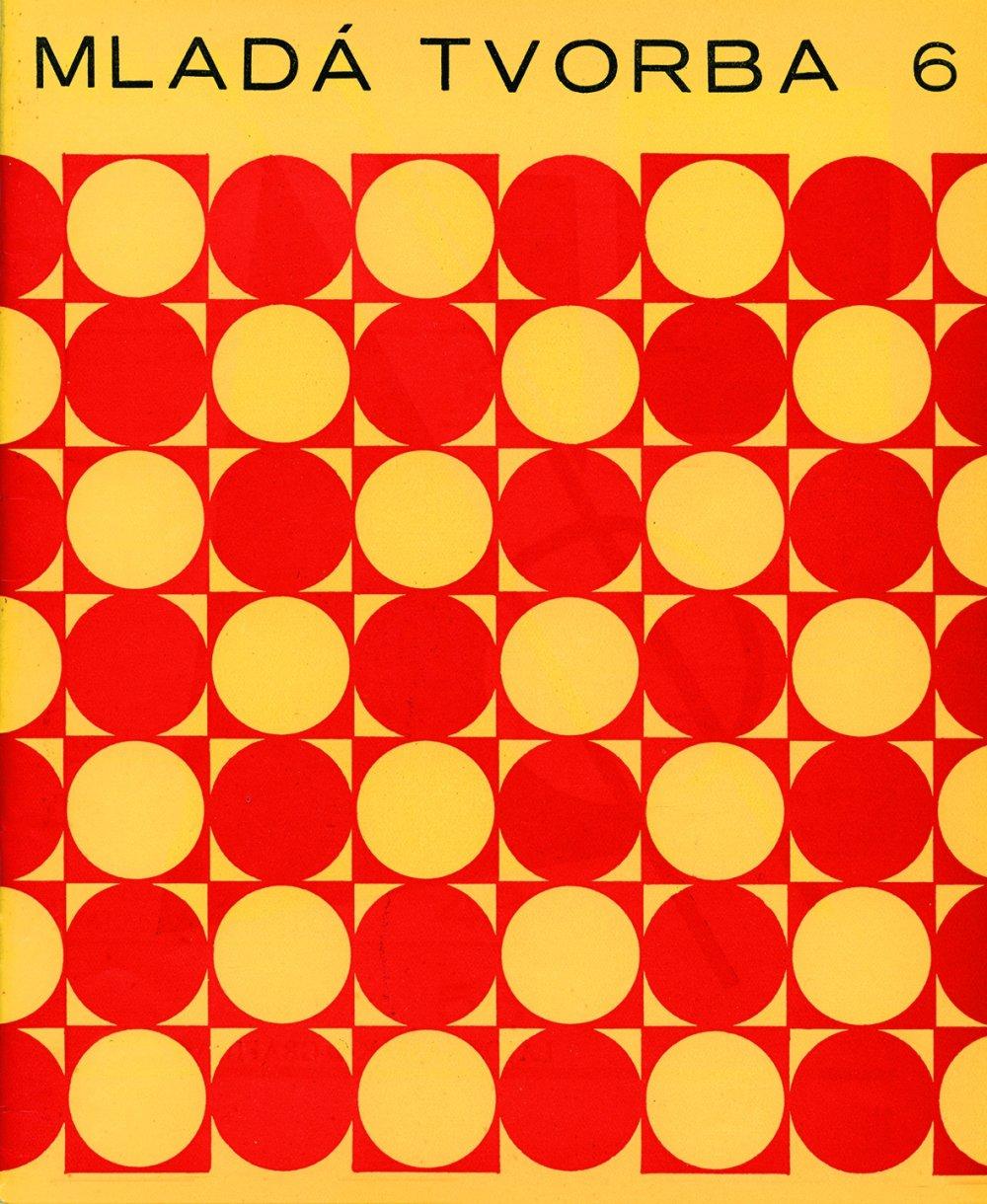 Geometrické motívy na obálke Mladej tvorby od Miloša Urbáska, 1968, archív SMD.