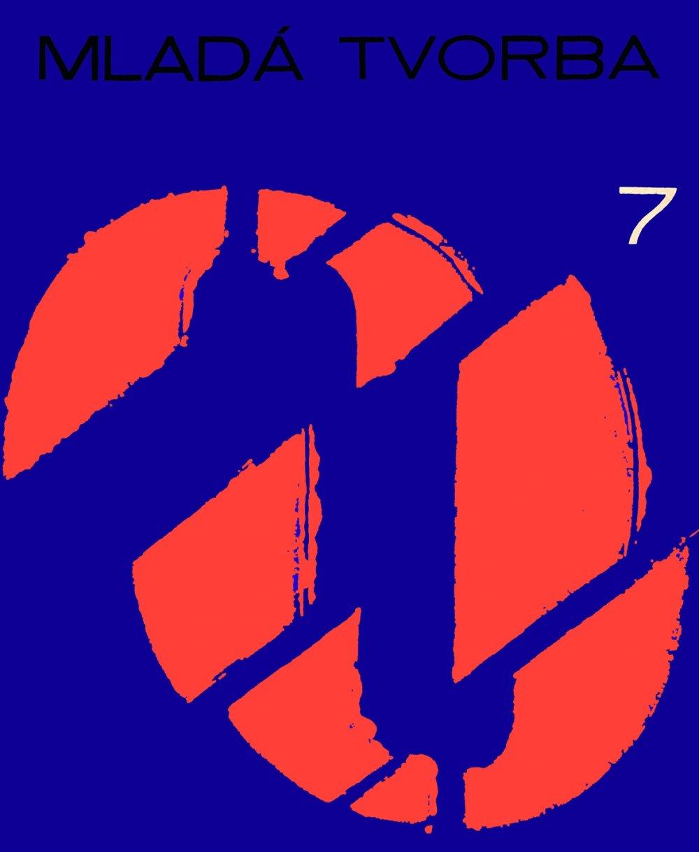 Motív O, typografická obálka Mladej tvorby od Miloša Urbáska, číslo 7, 1966, archív SMD.