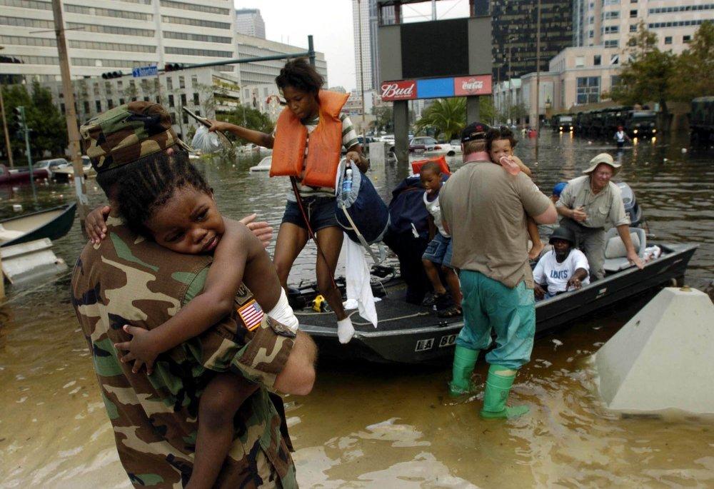 V New Orleans zahynulo okolo tisíc ľudí, celkovo zabila Katrina 1200 až 1800 ľudí. FOTO - TASR/AP