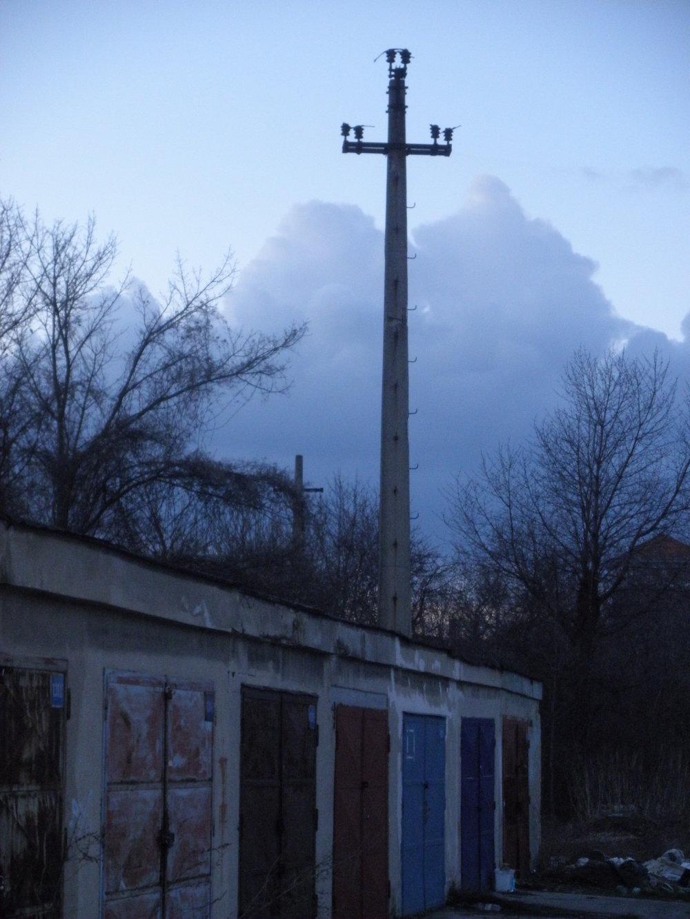 Opustené garáže na ulici Pri dvore.