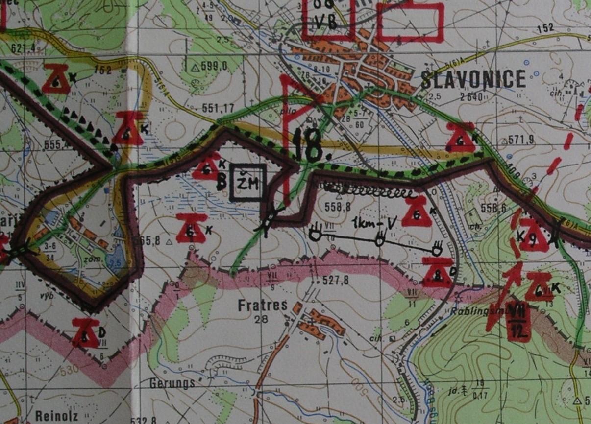 PS mapa Slavonice