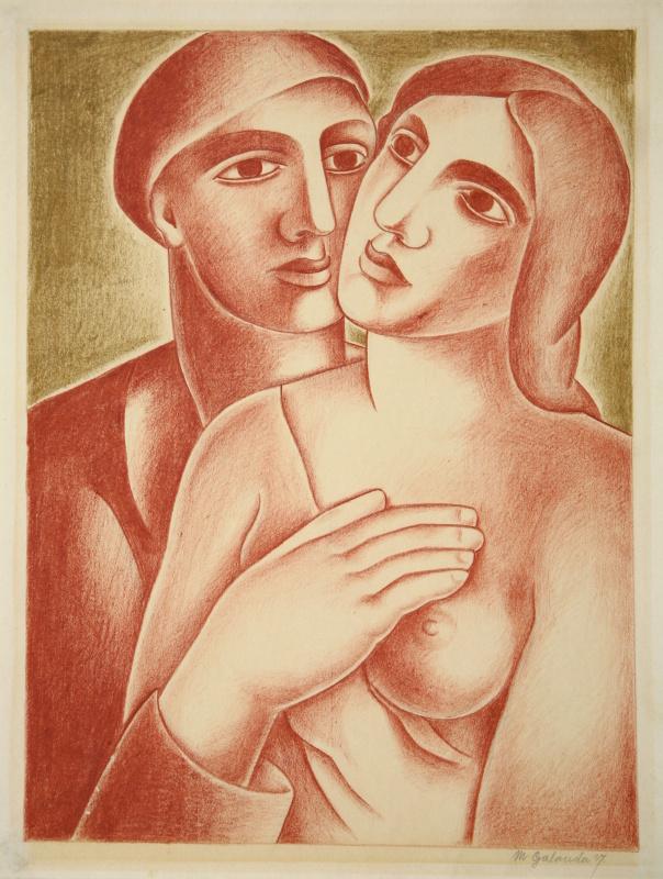 Mikuláš Galanda, Milenci (1927)  zdroj - webumenia.sk