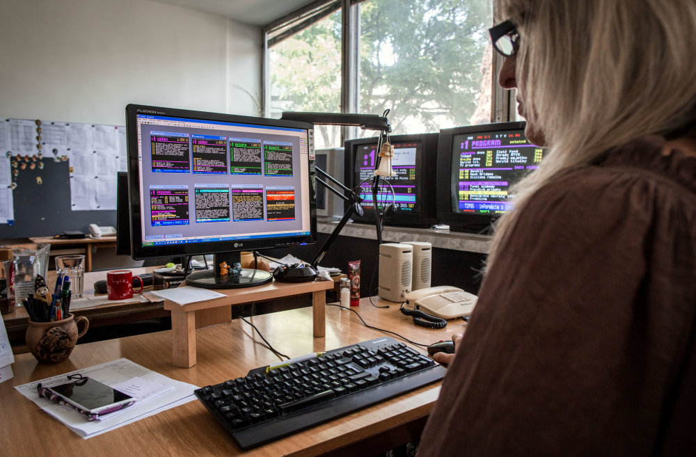Kancelária v budove RTVS, v ktorej sa vyrába Teletext. Foto N - Tomáš Benedikovič
