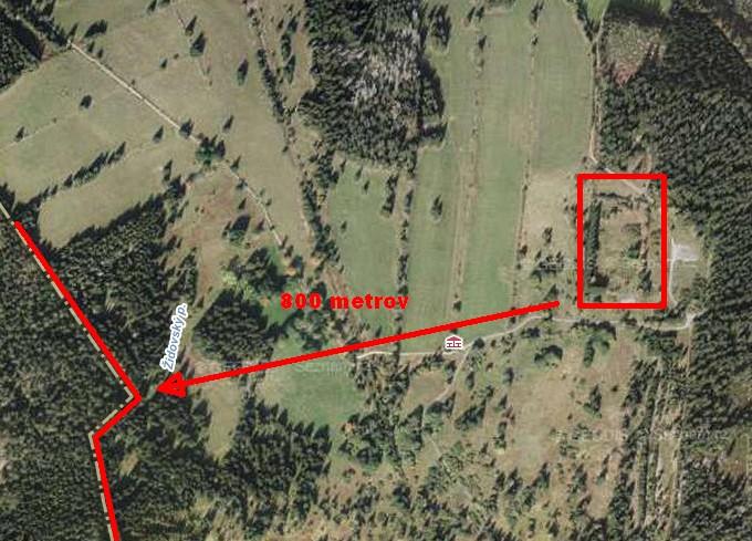 Žďárek satelitná snímka