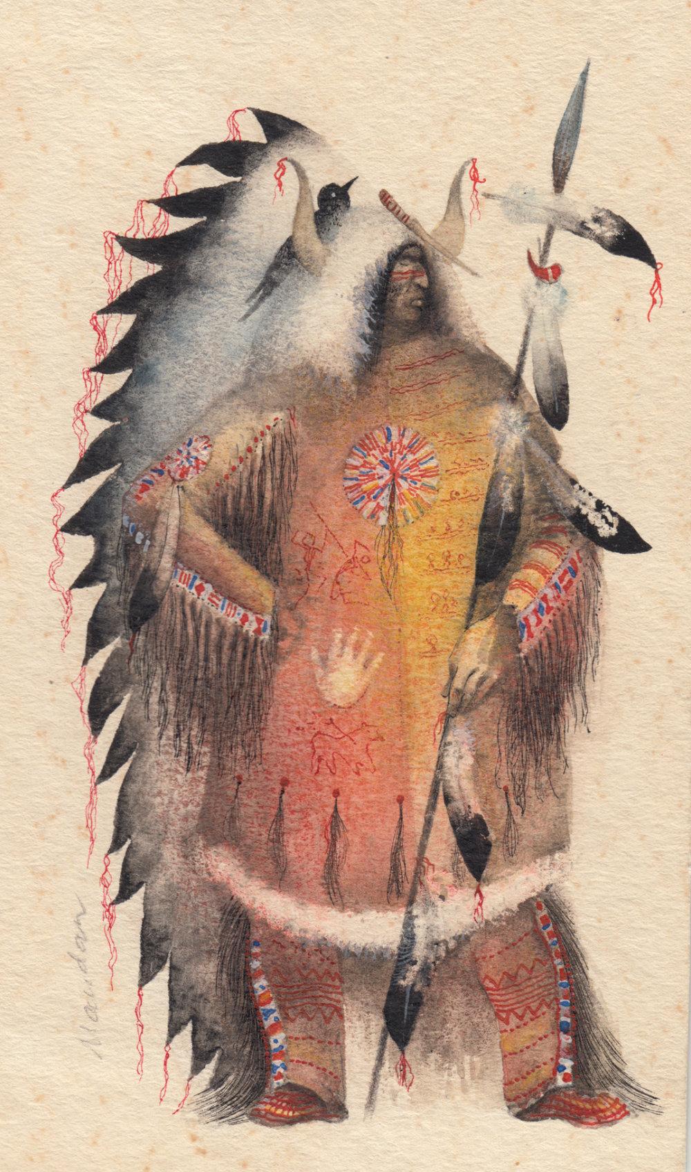Teodor Schnitzer - štúdia indiána.