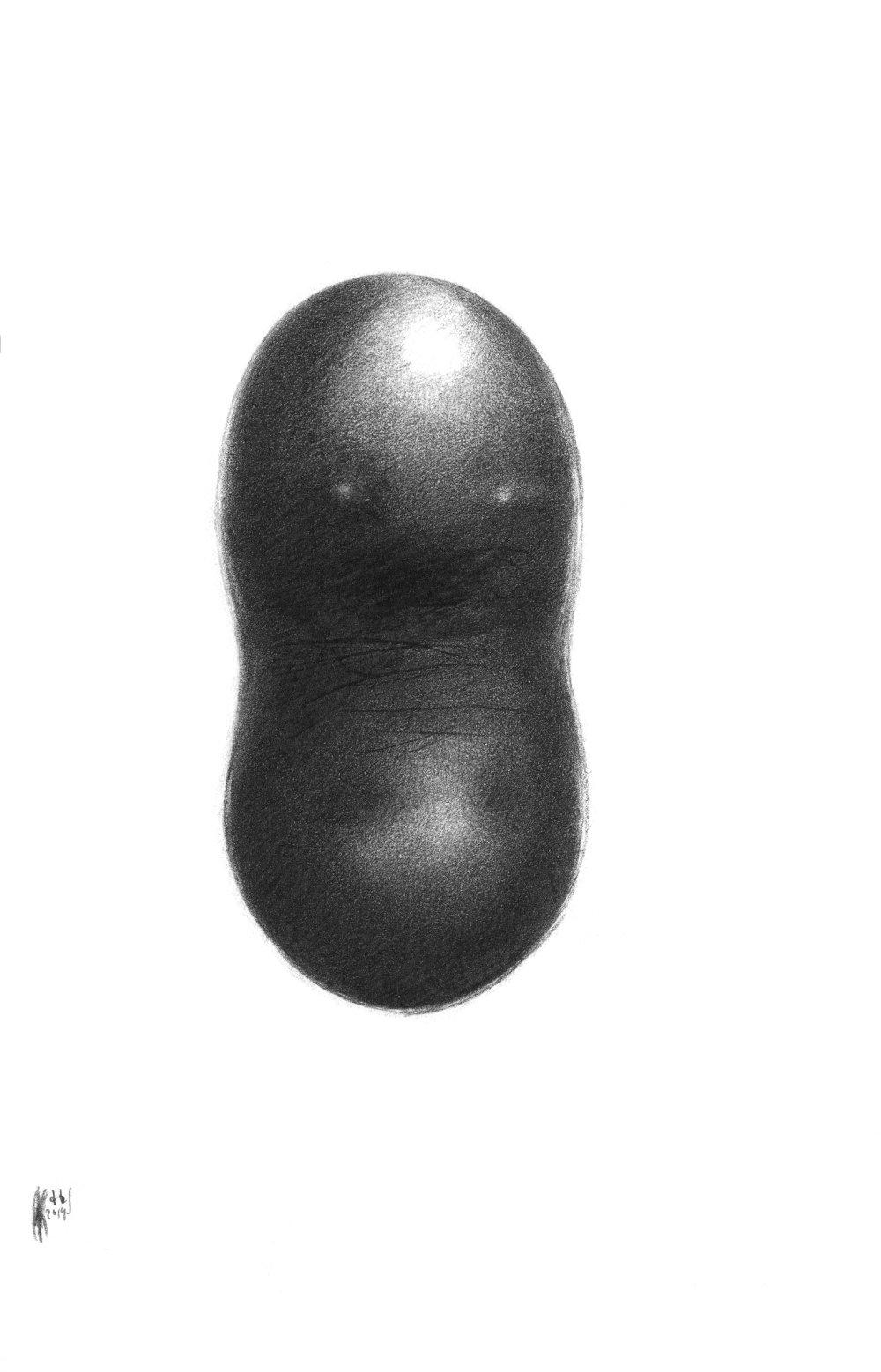 Ležatá osmička, 2014, kresba ceruzkou, 217x140mm