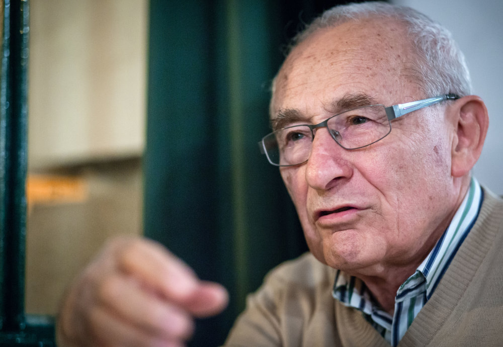 Pavol Kučera, ktorý ako dieťa prežil holokaust. Foto N – Tomáš Benedikovič