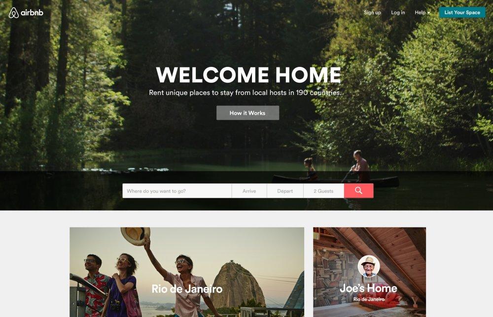 Úvodná stránka Airbnb.com. Foto - Airbnb