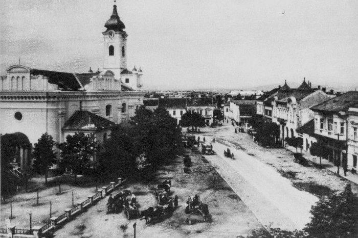 Topoľčany krátko pred druhou svetovou vojnou. V tom čase tu žilo asi tritisíc Židov, vrátilo sa asi päť stoviek. Foto - Archív autorov dokumentu Miluj blížneho svojho