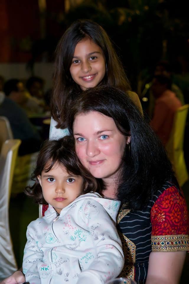 Michaela Samant s dcérami. Foto - archív Michaely Samant