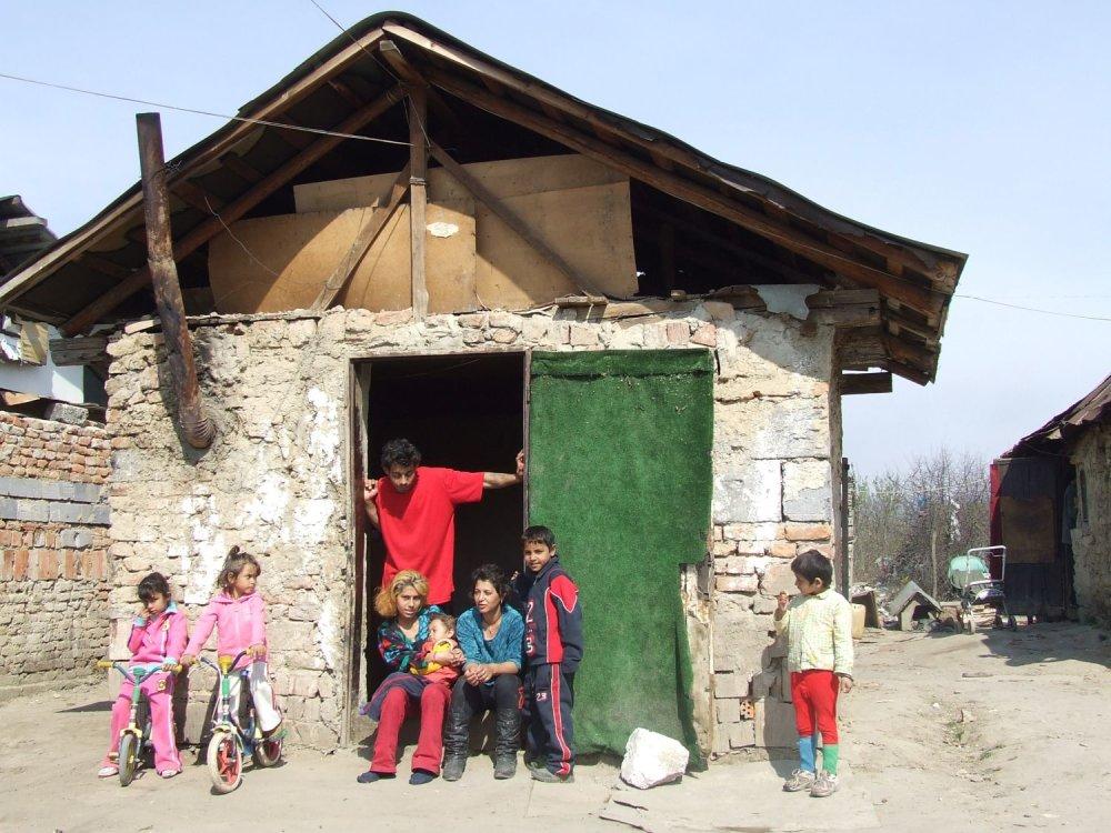 Rómska osada. Foto - Tomáš Hrustič