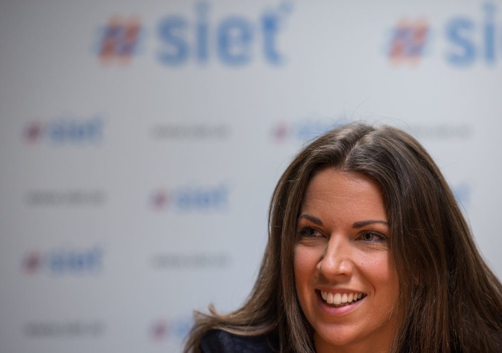Podpredsedníčka strany Sieť Katarína Cséfalvayová. Foto N - Tomáš Benedikovič