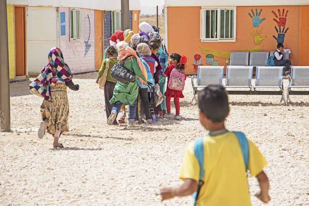 V tábore bežia aj vzdelávacie programy pre deti. Foto - NRC/Christopher Herwig