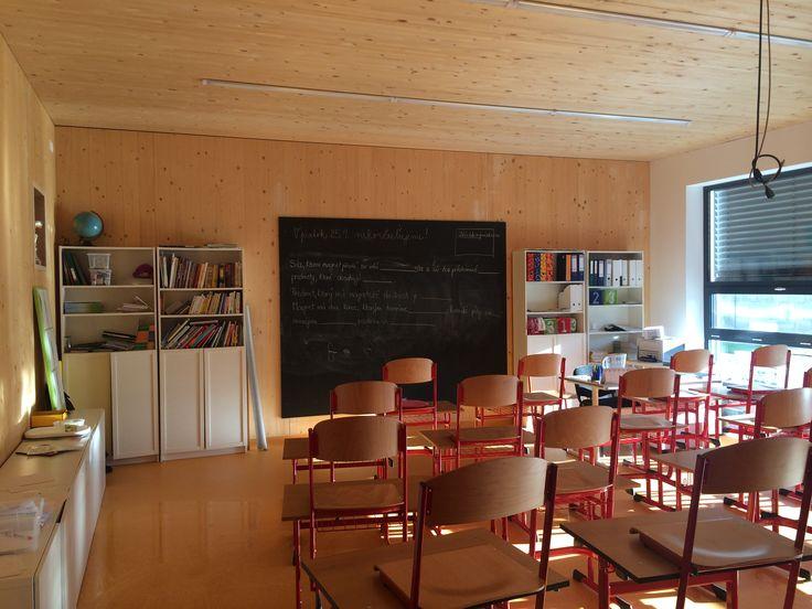 Drevostavba na súkromnom gymnáziu v Bratislave vznikla za dva mesiace počas letných prázdnin. Foto - Marcel Dzurilla.