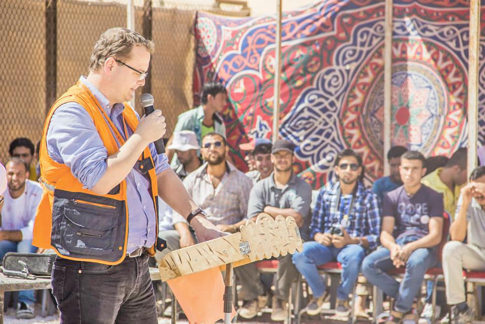 Petr Kostohryz je manažérom tábora sýrskych utečencov v Jordánsku. Foto - NRC/Christopher Herwig