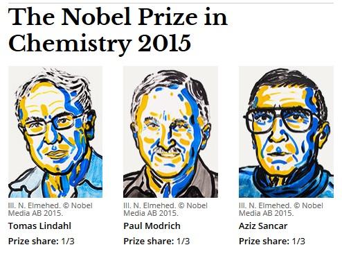 Tohtoroční laureáti Nobelovej ceny za chémiu. FOTO - nobelprize.org