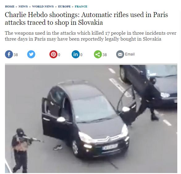 Už vo februári si slovenskú stopu pri vyvraždení redakcie Charlie Hebdo všímali napríklad novinári britského denníku Telegraph.