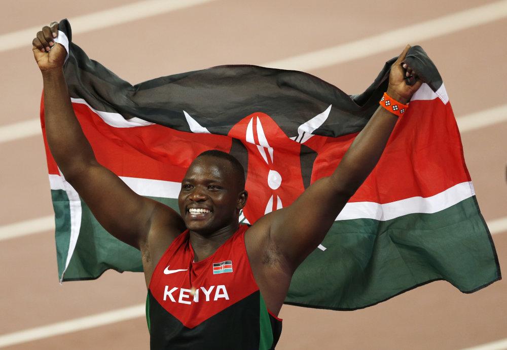 Tento rok vyhrala Keňa zlato aj v inej ako vytrvalostnej disciplíne. Julius Yego získal zlato v oštepe. Foto - tasr/ap