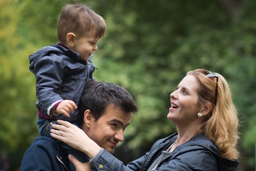 Vladimír Čabák s manželkou a synom Vilom. Foto N - Vladimír Šimíček