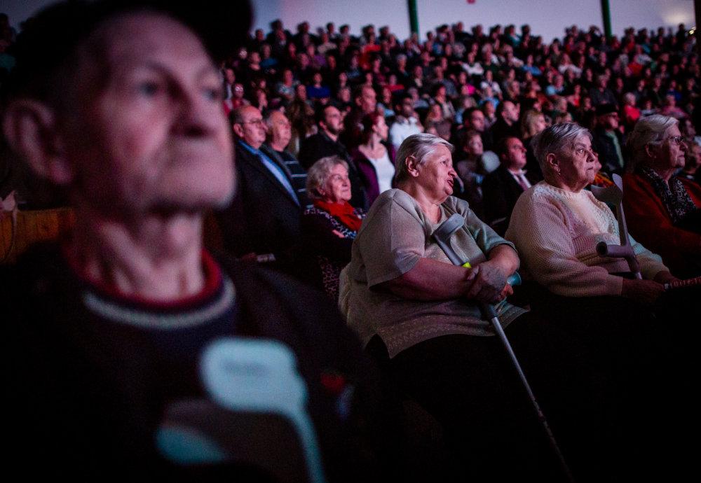 Predvolebný míting strany Smer-SD v športovej hale v Nových Zámkoch. Foto N - Tomáš Benedikovič