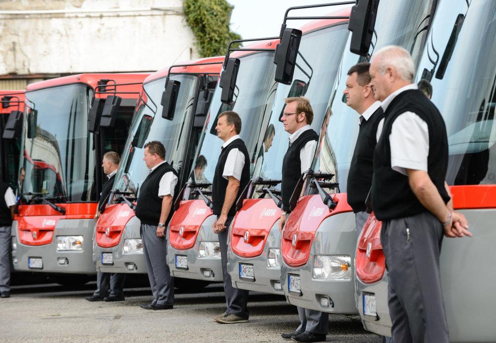Spoločnosť Arriva zabezpečuje pre Nitru MHD i prímestskú dopravu od roku 2013, keď prevzala podiely firmy Veolia. V súčasnosti získala rekordnú zmluvu na ďalších minimálne desať rokov. Foto – TASR
