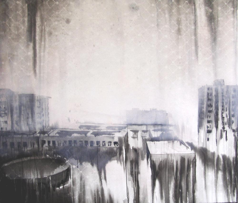 Lucia Tallová, Panel Story, 150 x 170 cm, akryl na plátne, 2012