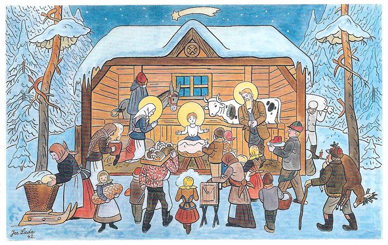 Zimu rád maľoval Josef Lada, dokonca častejšie než jarné motívy.