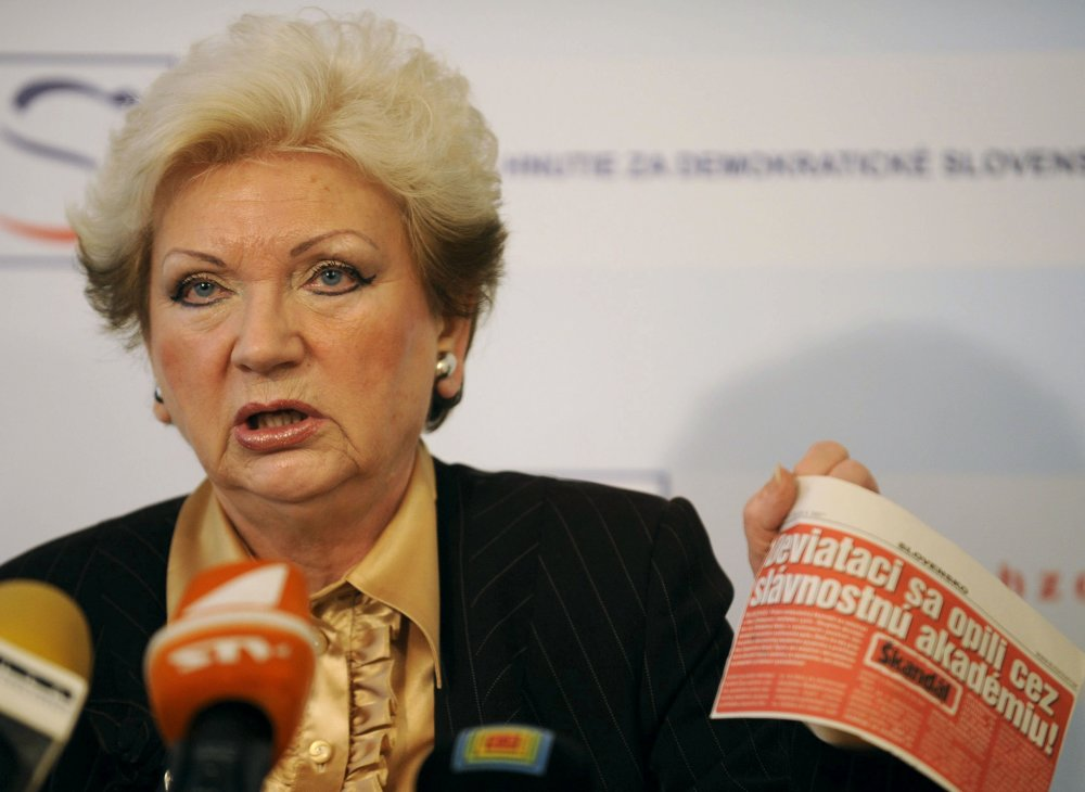 Bývalá poslankyňa za HZDS a profesorka práva Katarína Tóthová. Foto - TASR