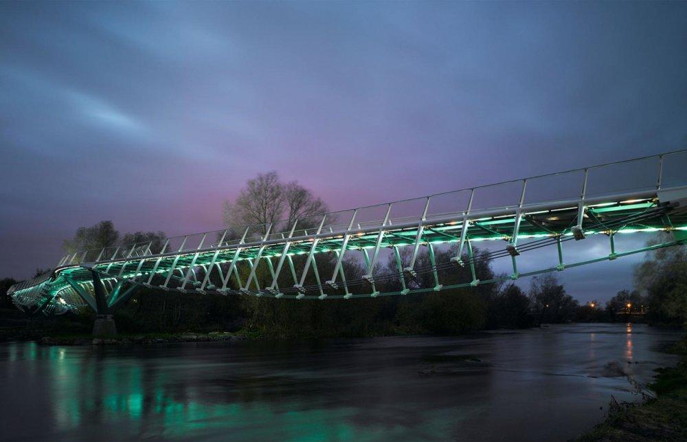 University of Limerick: Living Bridge, Írsko, z dielne Wilkonson Eyre