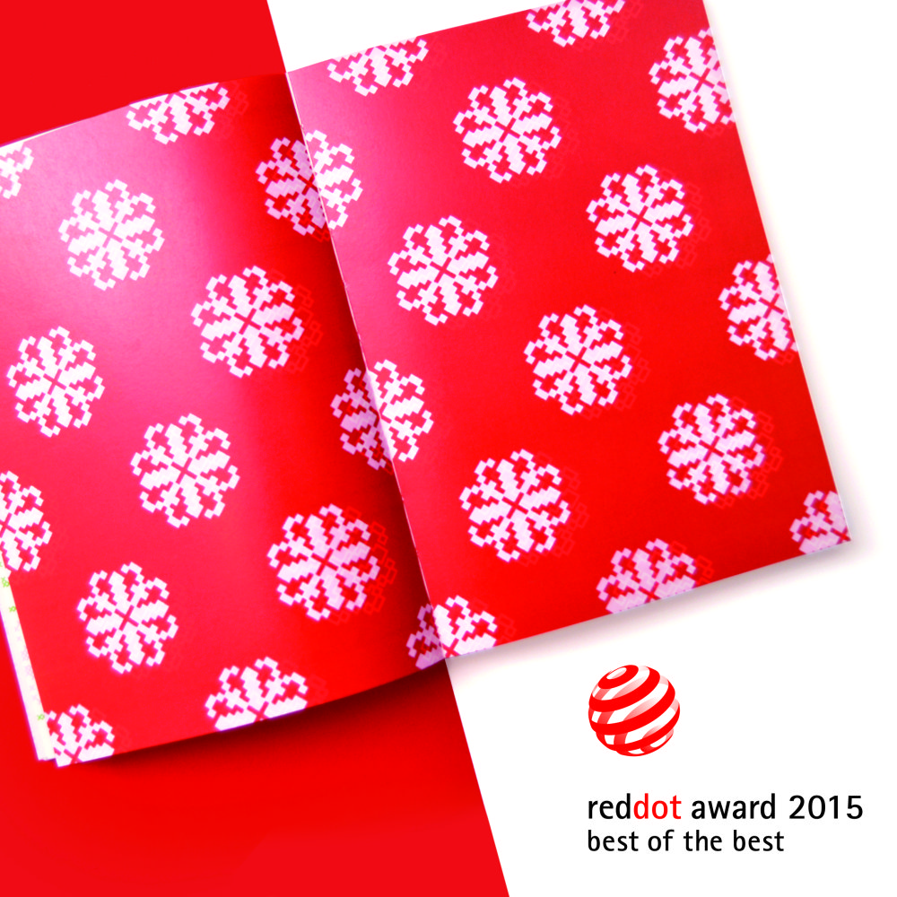 AHA, kniha inšpirovaná slovenskými výšivkami získala Red Dot Design - prestížne svetové ocenenie. Foto - Red Dot Official