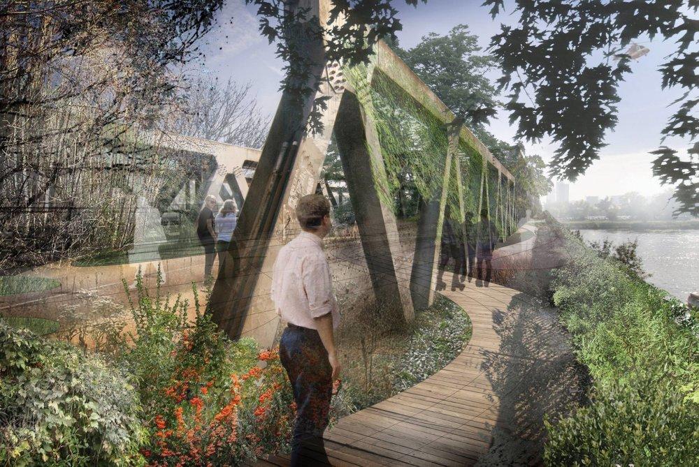 Návrh na Zelený starý most, FoRM Associates - Igor Marko, Petra Havelská