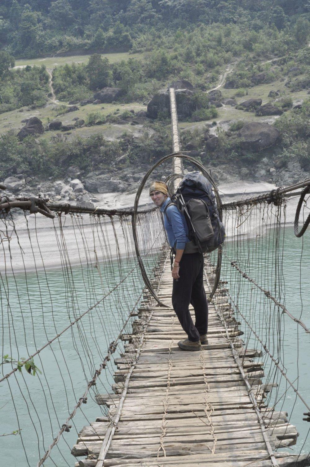 Arunachal Pradesh - most cez Brahmaputru v Indii.