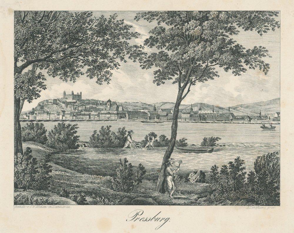 A. Langhans: Bratislava, 1700 – 1800, litografia. SNG. Dostupné z Webu umenia.