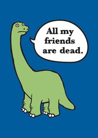 Zo smutného života dinosaurov.