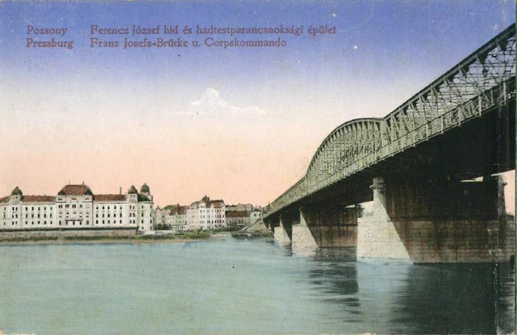 Most Františka Jozefa v roku 1914. Foto: archív Ladislava Szojku