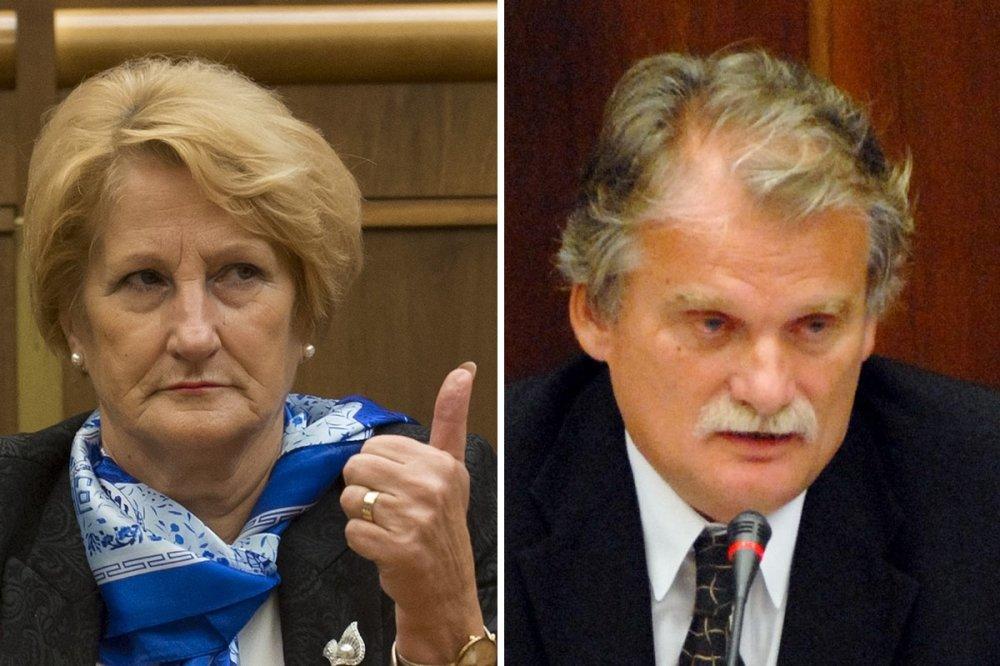 Jana Laššáková a Mojmír Mamojka - poslanci Smeru, ktorí sa prezidentovi nezdajú byť vhodní kandidáti na ústavných sudcov. foto - TASR