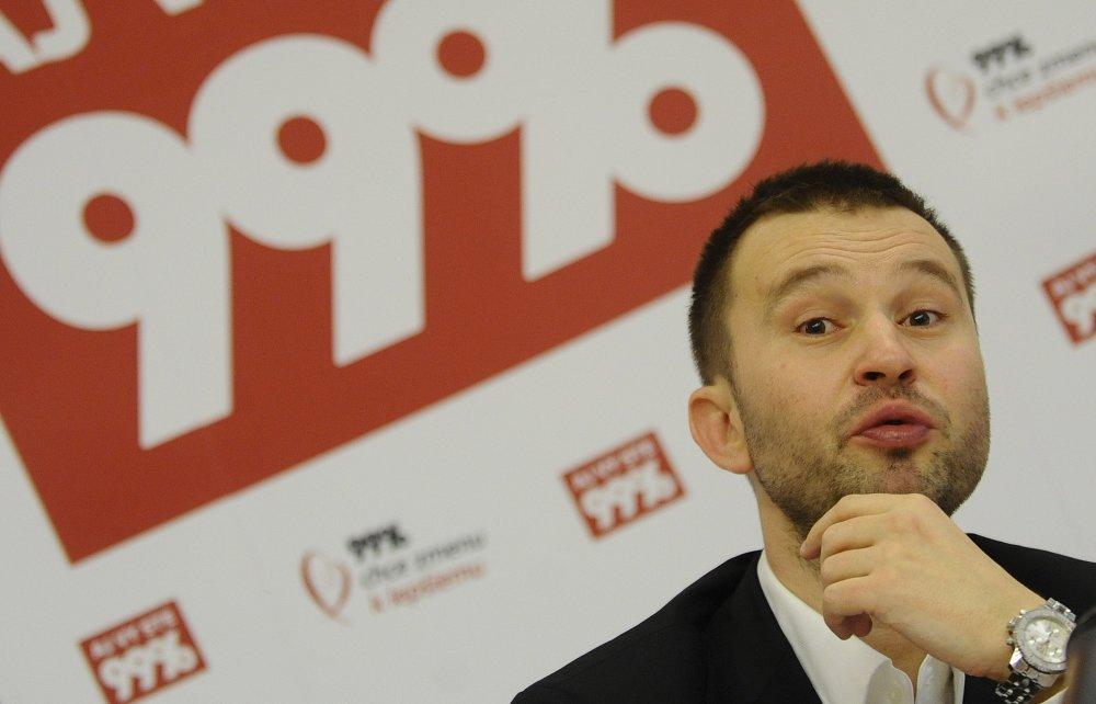 Bývalý novinár Pavol Pavlík, jeden z lídrov hnutia 99 percent. Foto - TASR