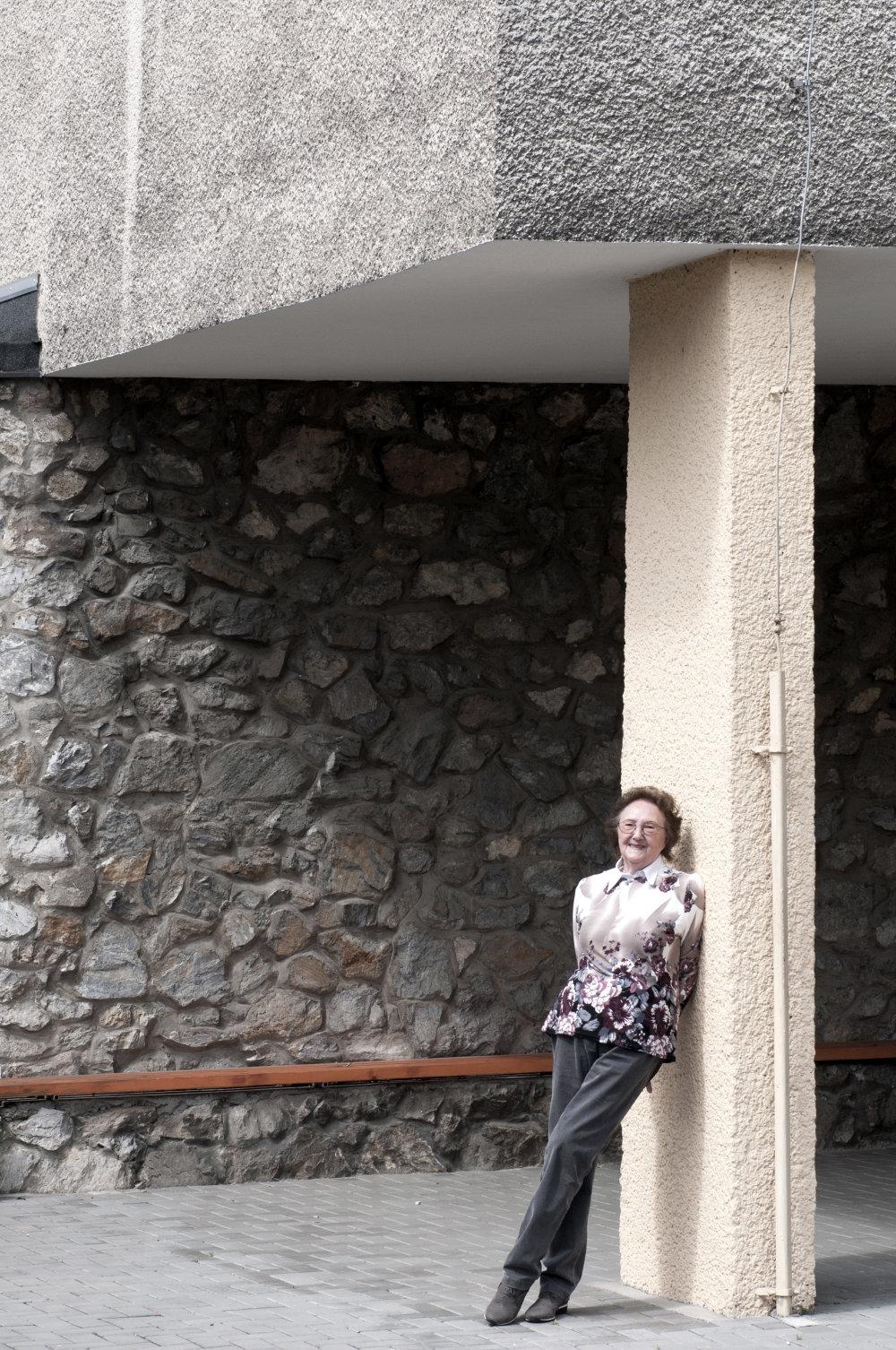 Milica Marcinková na dvore Destského diagnostického ústavu vTrnávke. Foto: Olja Triaška Stefanovič