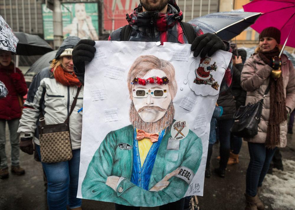 štrajk učitelia