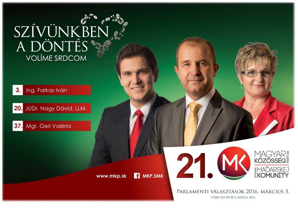 Jeden z volebných letákov. foto - Facebook SMK