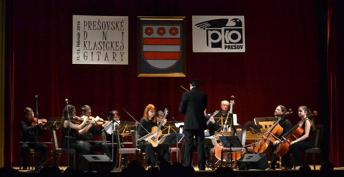 Musica Cassovia s členmi Bratislavského gitarového kvarteta. Foto: Vlado Salzer