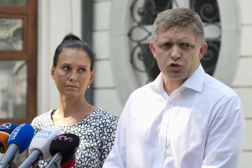 Robert Fico a Svetlana Ficová podali na Matoviča spoločne trestné oznámenie za krivé obvinenie, že majú účty na Belize. foto – TASR