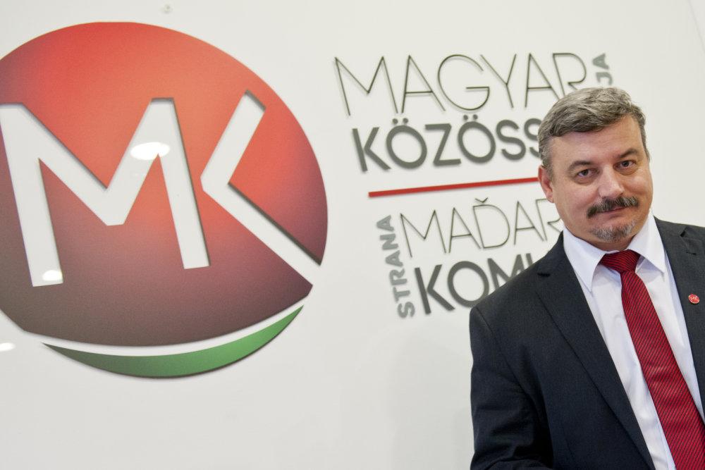 Predseda strany Strany maďarskej komunity (SMK) József Berényi. foto - TASR