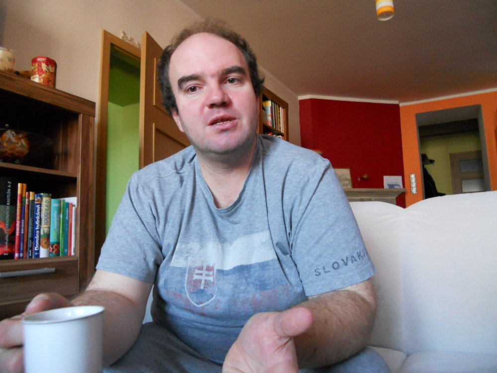 Riaditeľ základnej školy v Spišskom Hrhove Peter Strážik. foto N - Laco Kerekeš