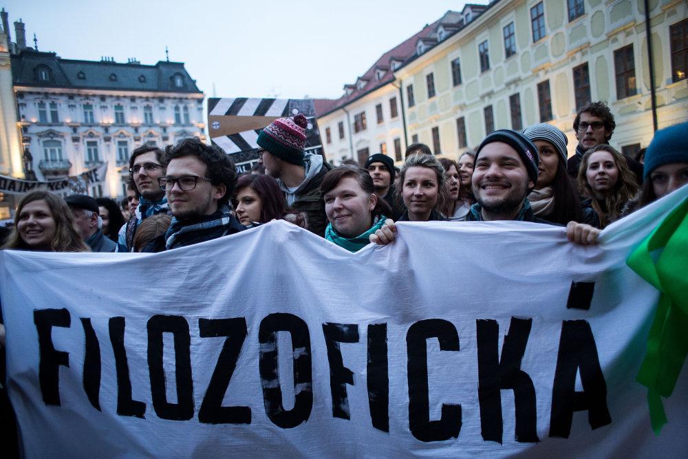 Demonštrácia. Foto N - Vladimír Šimíček