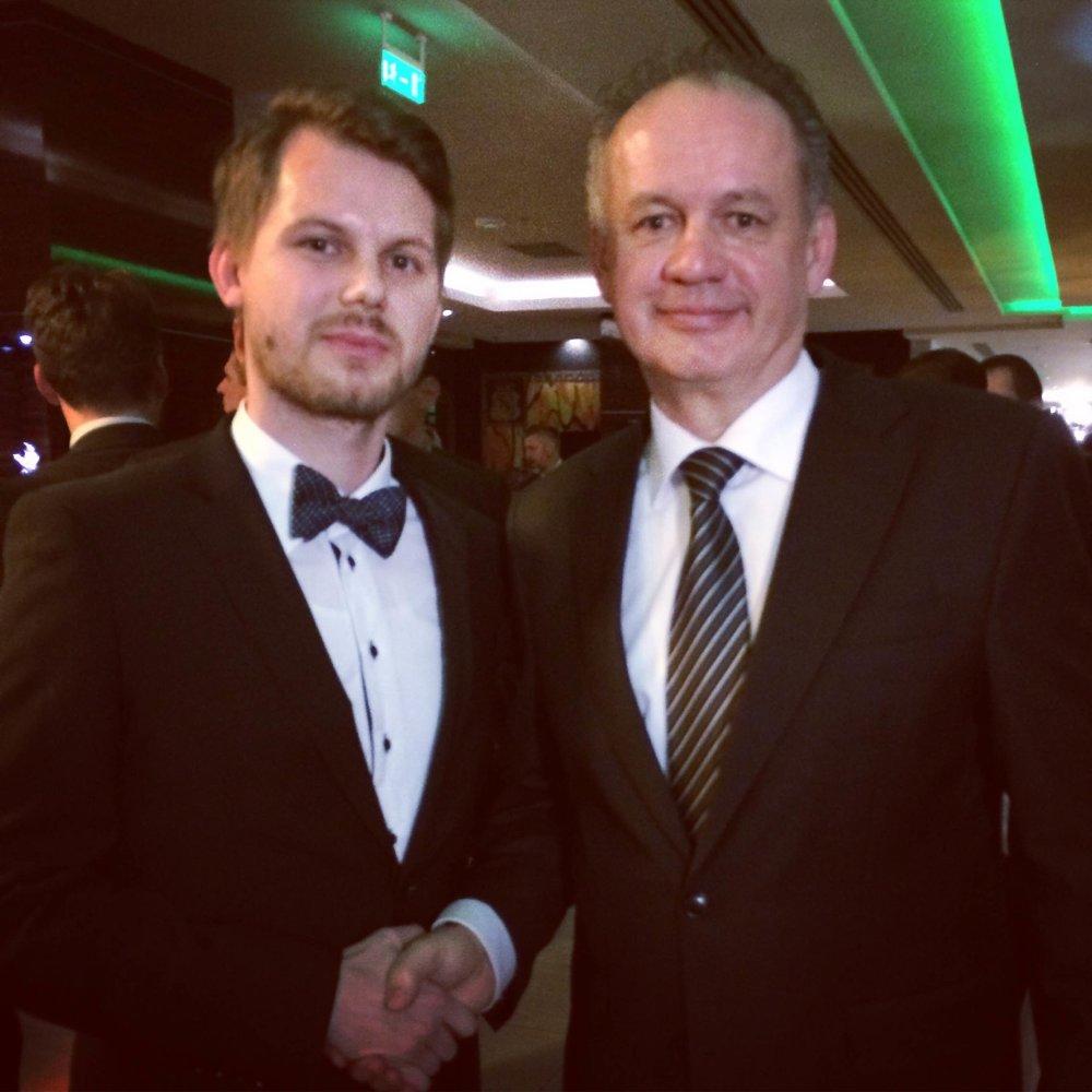 Jakub Tomiš a Andrej Kiska